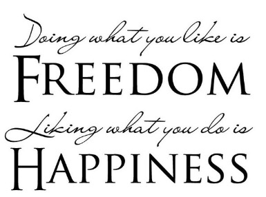 Freedom vs happiness